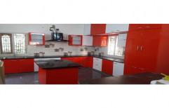 Acrylic U Shaped Modular Kitchen