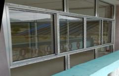 Aluminium Finished Aluminum Sliding Window, For Windows