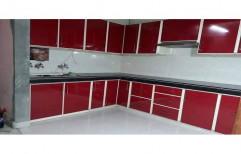 Aluminium L Shape Modular Kitchen