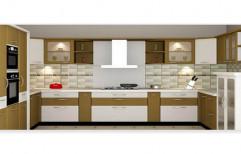 Artificial Marble Wooden Membrane Finish Designer Kitchens