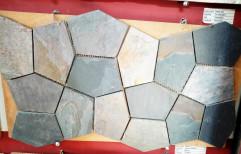 Black Slate Stone Mosaic & Cladding Tiles, Thickness: 10-15 mm