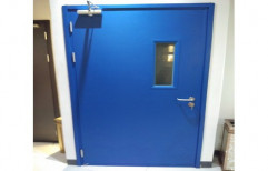 Blue 7 Feet MS Industrial Safety Door, For Laboratory