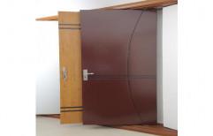 Brown WPC Solid Door