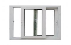 Finished White uPVC 2 SHUTTER SLIDING WINDOW