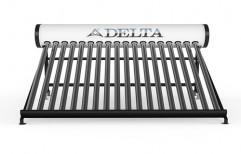 Flat Plate Collector (FPC) Aluminium Delta Solar Water Heater, Capacity: 100 lpd