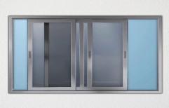 Grey Aluminium Aluminum Sliding Window