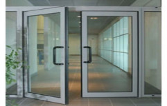 Hinged Partition Aluminium Glass Door, For Office, Thickness: 5 Mm