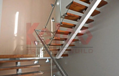Mild Steel Fabricated Staircase, For Home