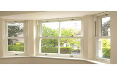 Off White UPVC Hung Window, Glass Thickness: 5- 10 Mm