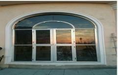 Polished Aluminium Section Window