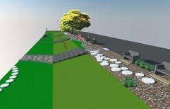Side Yard Grass Landscape Design Services, Chennai, Coverage Area: 1000 to 3000 Square Feet