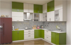 SS Polished Contemporary Modular Kitchen, Warranty: 1-5 Years