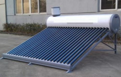 Stainless Steel Freestanding Solar Water Heater for Home, Capacity: 100 lpd