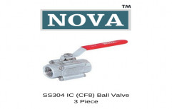 Stainless Steel High Pressure 3 Piece Ball Valve, Steel Grade: SS304, Size: Upto 2""