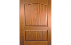 Teak Wood Rectangular Brown Panel Door