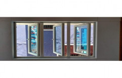 White (Frame) UPVC Hinged Window, Glass Thickness: 11-12 Mm