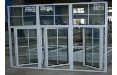 White Powder Coated Aluminium Casement Window