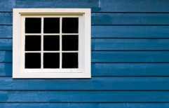 White PVC Window, Glass Thickness: 5mm
