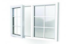 White Rectangular UPVC Hinged Window, Thickness Of Glass: 2-5 mm