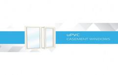Windoor Plain Designer UPVC Casement Window, Glass Thickness: 5 - 8 Mm