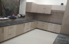Wooden L Shape Italian Modular Kitchen, Warranty: 1-5 Years