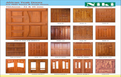 38 inch Exterior Benin Teak Main door, for Home, Size: 80 Inch