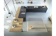 Brown And Black Wooden Designer Italian Modular Kitchen