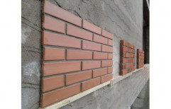 Brown Clay Cladding Tiles, For Wall Decoration, Thickness: 12mm