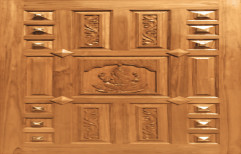 Brown Exterior And Interior Teak Wood Doors