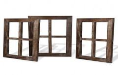 Brown Modern Designer Wooden Window, Rectangular