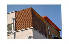 Brown WPC Wall Cladding, For Interior And Exterior, Thickness: 10 mm