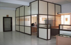 Decorative AAA aluminium office partition, For Offices, Thickness: 63.5mm