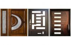 Exterior Matte Designer Wooden Door, For Home