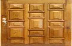 Finished Solid Wood Wooden Door, For Home