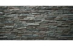 Gray Wall Cladding Stone ET-416, Size: W12 X L40 cm