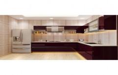 L Shape Acrylic Modular Kitchen, Warranty: 10-15 Years
