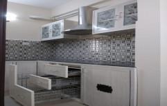 L Shape Modern PVC Modular Kitchen