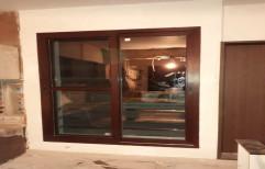 Matte Modern Wooden Sliding Window