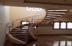 Mild Steel Spiral Interior Staircase