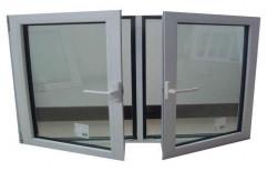 Modern White Aluminum Casement Window, For Home, Size/Dimension: 4x5 Feet