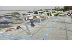 Modular Mild Steel Solar Panel Mounting Structure, Thickness: 2-5mm
