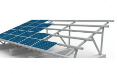 Modular Mild Steel Solar Panel Structure, Thickness: 2-4 mm