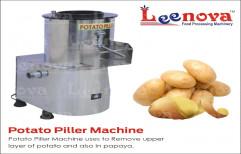 Onion Leenova Potato Peeler Machine, Capacity: 20-40 Kg/hr