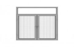 Powder Coated Aluminium Casement Window, Size/Dimension: 5 X 4 Feet