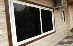 Rectangular White UPVC Glass Sliding Window for Home, Thickness: 4 mm