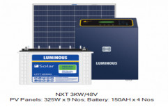 Single Off Grid Luminous Solar Off-Grid System - PCU Combo - 3 kW