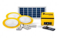 Sun King Home 120, 3 Solar Ceiling Hanging Lights With Energy Storage Capacity And USB Port