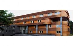 Teak Wood Rectangular Exterior Facade