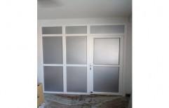 Toughened Glass Lever Handle UPVC Hinged Door, Interior