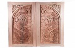 Traditional Design Carved Wood Door
